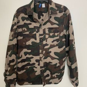 Camouflage Button-Down Shirt Divided By H&M Men S